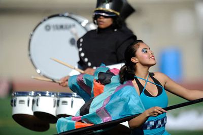 Locke High School drill team. The annual LAUSD Band and Drill Team Championship competition was held at East Los Angeles College. The competition featured an estimated 2,500 high school students representing 30 schools. The groups were evaluated on their visual ad musical performance. Monterey Park CA 12/10/2011(John McCoy/Staff Photographer)