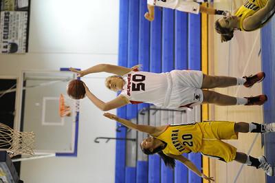 Bell-Jeff vs Ventura during their girls' basketball game at St. Bernard High School in Playa del Rey Saturday, January 14, 2012. (Hans Gutknecht/Staff Photographer)