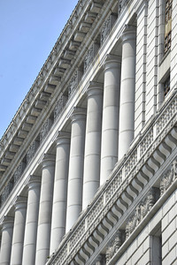 The county will begin work on a $231 million renovation to the Hall of Justice, which has been vacant since the 1994 Northridge Earthquake. The historic Beaux Arts building was built in 1925. Los Angeles, CA. 8-10-2011. (John McCoy/Staff Photographer)