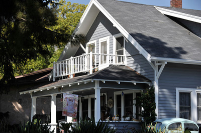 The City of Burbank granted a historical designation to the two story farm house owned by Kent and Marlene Burton on E. Magnolia Blvd. Burbank, CA 6-22-2011. (John McCoy/Staff Photographer)