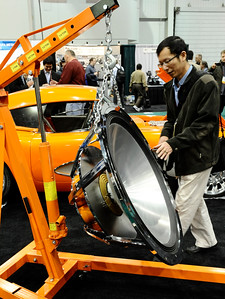 Some of the many crazy things to bee seen during the 2nd day of the 2011 International CES. Las Vegas NV. Jan 7,2011. Photo by Gene Blevins/LA Daily news