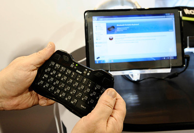 Itablet displays their wireless keyboard for tablets during the 3rd day of the 2011 International CES. Las Vegas NV. Jan 8,2011. Photo by Gene Blevins/LA Daily news