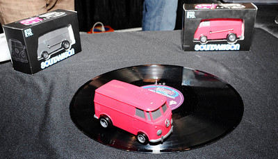STOYO show their soundwagon VW bug that plays records as it goes in circles, during the 3rd day of the 2011 International CES. Las Vegas NV. Jan 8,2011. Photo by Gene Blevins/LA Daily news