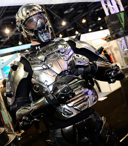 One of the many video game warriors roaming around during the 3rd day of the 2011 International CES. Las Vegas NV. Jan 8,2011. Photo by Gene Blevins/LA Daily news