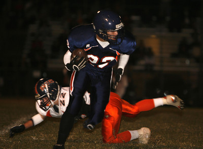 Chatsworth's Drake Schwarcz breaks away from Chaminade Ian Colburn during the first half on Thursday, September 20, 2007 at Chatsworth High School. (Edna T. Simpson)