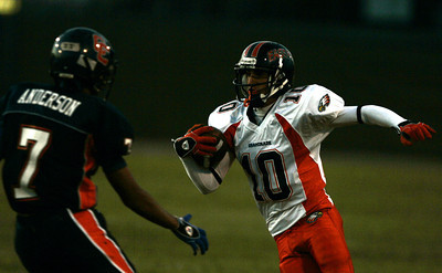 Chaminade's Nick Rosenberger run into Chatsworth Jordan Anderson during the first half on Thursday, September 20, 2007 at Chatsworth High School. (Edna T. Simpson)