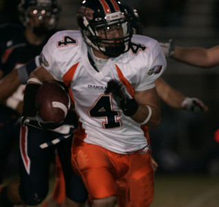 Chaminade's Cory Bess gains yardage during the second half on Thursday, September 20, 2007 against Chatsworth at Chatsworth High School. (Edna T. Simpson)