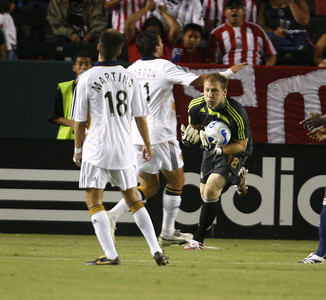 Chivas GK Brad Guzan makes a save during the first half of the victory game against Galaxy on Thursday, September 13, 2007 at Home Depot Center. (Edna T. Simpson)