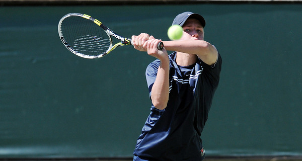 Viewpoint's Bryce Beisswanger during his CIF Southern Section Div. IV Tennis Final against Laguna Beach's Jake Michaels Wednesday, June 2011 at the Claremont Tennis Club in Claremont, Ca. (Hans Gutknecht/Staff Photographer)