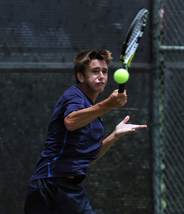 University's Gage Brymer during his CIF Southern Section Div. I Tennis Final match against Harvard-Westlake's Jackson Frons Wednesday, June 2011 at the Claremont Tennis Club in Claremont, Ca. (Hans Gutknecht/Staff Photographer)
