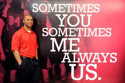CSUN women basketball coach Jason Flowers. (Hans Gutknecht/Staff Photographer)