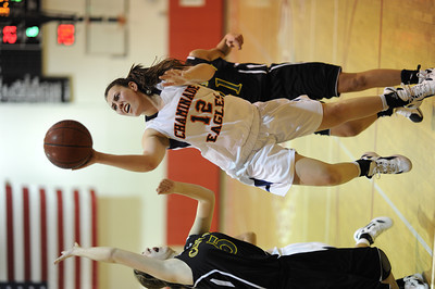Chaminade's Robyn Brown (12) shoots during their first round game against Canyon in  the West Coast Holiday Festival invitational division at Burroughs High School in Burbank Monday, December 26, 2011. (Hans Gutknecht/Staff Photographer)
