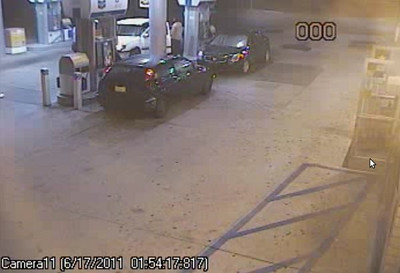 This is what the Chevron station at Newhall Avenue and Sierra Highway looked like before a Nissan crashed into it in the early morning hours on Friday, June 17, 2011. (Courtesy of the Los Angeles County Sheriff's Department)