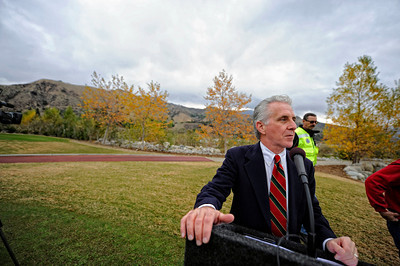 Los Angeles City Council Member Paul Krekorian  Monday, December 19, 2011 at the Angeles National Golf Club during a ceremony to publicly dedicate nearly 280 acres of open space adjacent to the Sunland golf course.  (Hans Gutknecht/Staff Daily News)