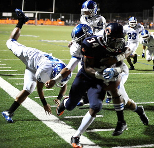 Chaminade's #34 Terrell Newby gets by the Burbank defense during friday night football. Sept 10,2010. Photo by Gene Blevins/LA Daily News