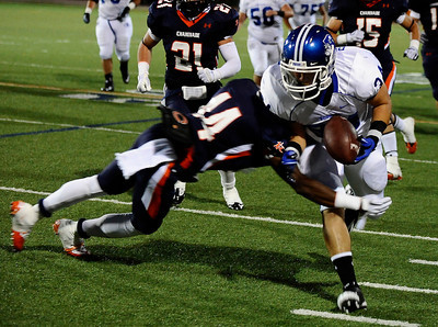 Game action as Chaminade takes the win 37-6 victory over  Burbank high, during friday night football. Sept 10,2010. Photo by Gene Blevins/LA Daily News