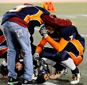 Chatsworth players react to their lost to Fairfax high 51 to 7 in City Section Div. II football final CIF. Los Angeles. Dec 10,2010. Photo by Gene Blevins/LA Daily News