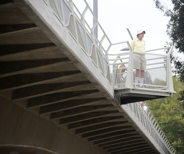 First over all look at the now open to traffic the Colfax Avenue bridge Thursday morning, as the two-year project to widen and modernize the overpass comes to a completion. Studio City, CA. July 28,2011. photo by Gene Blevins/LA Daily News