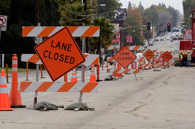 Construction along Coldwater Canyon Ave.  just south of Ventura Blvd Monday, December 19, 2011. (Hans Gutknecht/Staff Photographer)