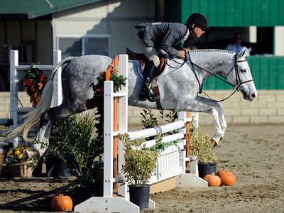 John French competes during the first day of the $50,000 Los Angeles NationalÊGrand Prix Wednesday, November 16, 2011 at theÊLos Angeles Equestrian Center in Burbank, CA. The event concludes on Saturday top riders competing in show jumping in the Equidome atÊthe Equestrian Center (Hans Gutknecht/Staff Photographer)