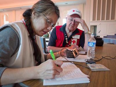 Carmela Burke on volunteer duty in Mississippi.