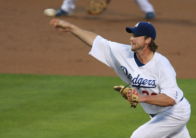Los Angeles Dodgers' Derek Lowe pitches to a Cubs batter in the first inning of the game played on Friday, May 25, 2007 in Los Angeles, CA.  John Lazar / L.A. Daily News Staff Photographer