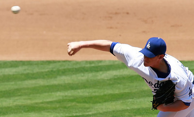 Los Angeles Dodgers' Chad Billingsley pitched for seven innings against San Diego Padres' batters in the game played at Dodgers Stadium in Los Angeles, CA, on Sunday, July 1, 2007 where the Dodgers won with the final score of 5-0.   (John Lazar/L.A. Daily News Staff Photographer)