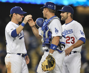 The Dodgers defeated the Detroit Tigers 6-1 in a game at Dodger Stadium. Los Angeles, CA 6-21-2011. (John McCoy/Staff Photographer)