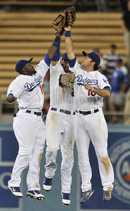 The Dodgers defeated the San Diego Padres 8-5 in a game played at Dodger Stadium in Los Angeles, CA. 8-30-2011. (John McCoy/Staff Photographer)