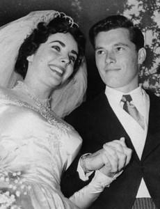 Elizabeth Taylor And Conrad Hilton 1950