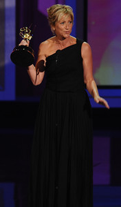 Edie Falco won an Emmy Award for Outstanding Lead Actress In A Comedy Series for her role on 'Nurse Jackie' at the 62nd Primetime Emmy Awards on Sunday, August  29, 2010, at the Nokia Theatre in Los Angeles.(Michael Owen Baker/ staff photographer)