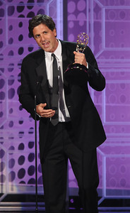 Steven Levitan accepts the Emmy for Outstanding Writing for a Comedy Series at the 62nd Primetime Emmy Awards on Sunday, August  29, 2010, at the Nokia Theatre in Los Angeles.(Michael Owen Baker/ staff photographer)