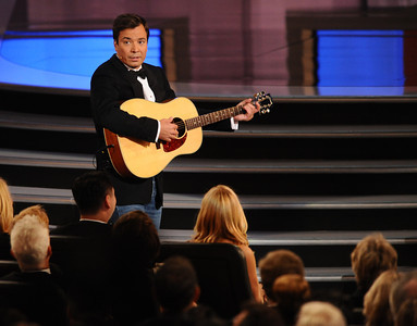 Jimmy Fallon at the 62nd Primetime Emmy Awards on Sunday, August  29, 2010, at the Nokia Theatre in Los Angeles.(Michael Owen Baker/ staff photographer)