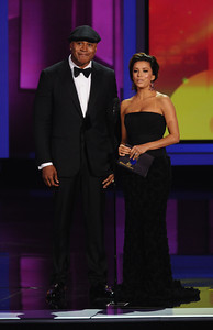 LL Cool J and Eva Longoria Parker at the 62nd Primetime Emmy Awards on Sunday, August  29, 2010, at the Nokia Theatre in Los Angeles.(Michael Owen Baker/ staff photographer)