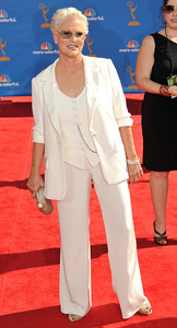 Sharon Gless arrives for the 62nd Primetime Emmy Awards on Sunday, August  29, 2010, at the Nokia Theatre in Los Angeles.(John McCoy/ staff photographer)