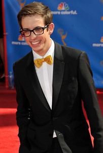 Kevin McHale arrives for the 62nd Primetime Emmy Awards on Sunday, August  29, 2010, at the Nokia Theatre in Los Angeles.(John McCoy/ staff photographer)