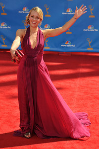 Kristen Quintrall arrives for the 62nd Primetime Emmy Awards on Sunday, August  29, 2010, at the Nokia Theatre in Los Angeles.(John McCoy/ staff photographer)