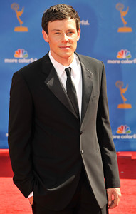 Cory Monteith arrives for the 62nd Primetime Emmy Awards on Sunday, August  29, 2010, at the Nokia Theatre in Los Angeles.(John McCoy/ staff photographer)