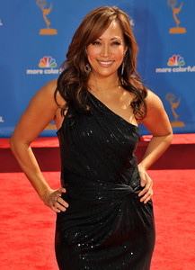Carrie Ann Inaba arrives for the 62nd Primetime Emmy Awards on Sunday, August  29, 2010, at the Nokia Theatre in Los Angeles.(John McCoy/ staff photographer)