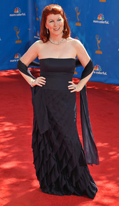 Kate Flannery arrives for the 62nd Primetime Emmy Awards on Sunday, August  29, 2010, at the Nokia Theatre in Los Angeles.(John McCoy/ staff photographer)