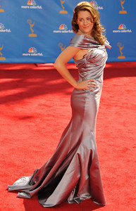 arrives for the 62nd Primetime Emmy Awards on Sunday, August  29, 2010, at the Nokia Theatre in Los Angeles.(John McCoy/ staff photographer)
