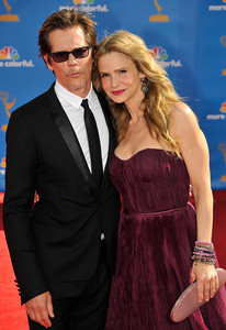 Kevin Bacon, and Kyra Sedgwick arrives for the 62nd Primetime Emmy Awards on Sunday, August  29, 2010, at the Nokia Theatre in Los Angeles.(John McCoy/ staff photographer)