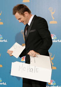 Joel McHale during the 62nd Primetime Emmy Awards on Sunday, August  29, 2010, at the Nokia Theatre in Los Angeles.(David Crane/ staff photographer)