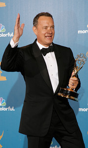 Tom Hanks during the 62nd Primetime Emmy Awards on Sunday, August  29, 2010, at the Nokia Theatre in Los Angeles.(David Crane/ staff photographer)