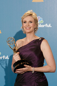 Jane Lynch after the 62nd Primetime Emmy Awards on Sunday, August  29, 2010, at the Nokia Theatre in Los Angeles.(David Crane/ staff photographer)