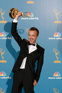 Aaron Paul during the 62nd Primetime Emmy Awards on Sunday, August  29, 2010, at the Nokia Theatre in Los Angeles.(David Crane/ staff photographer)