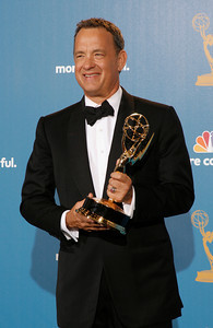 Tom Hanks duirng the 62nd Primetime Emmy Awards on Sunday, August  29, 2010, at the Nokia Theatre in Los Angeles.(David Crane/ staff photographer)
