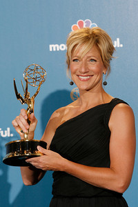 Actress Edie Falco after the 62nd Primetime Emmy Awards on Sunday, August  29, 2010, at the Nokia Theatre in Los Angeles.(David Crane/ staff photographer)