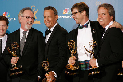 Tom Hanks and The Pacific wins during  the 62nd Primetime Emmy Awards on Sunday, August  29, 2010, at the Nokia Theatre in Los Angeles.(David Crane/ staff photographer)