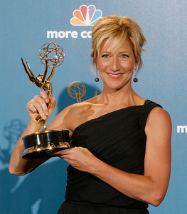 Edie Falco after the 62nd Primetime Emmy Awards on Sunday, August  29, 2010, at the Nokia Theatre in Los Angeles.(David Crane/ staff photographer)